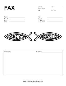 Christian Fish Fax Cover Sheet