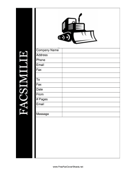 Construction Fax Cover Sheet