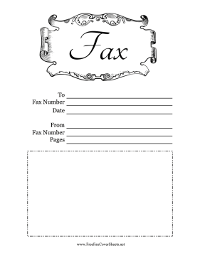 Decorated Fax Cover Sheet