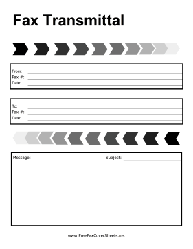 Fade Shapes Fax Cover Sheet