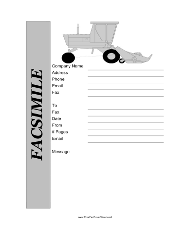 Farm Fax Cover Sheet