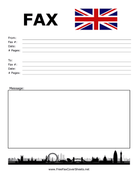 International Fax London Fax Cover Sheet