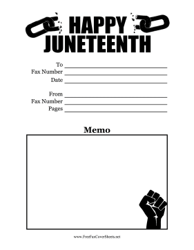 Juneteenth Fax Cover Sheet