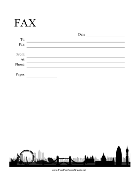 London Skyline Fax Cover Sheet