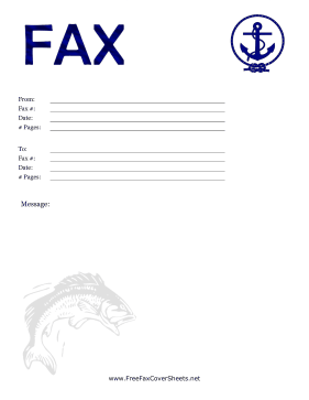 Nautical Fax Cover Fax Cover Sheet