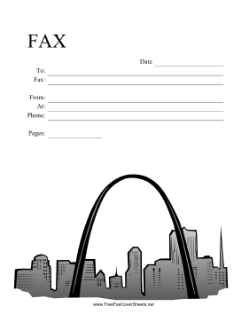 St Louis Skyline Fax Cover Sheet