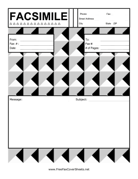 Stylish Triangles Fax Cover Sheet