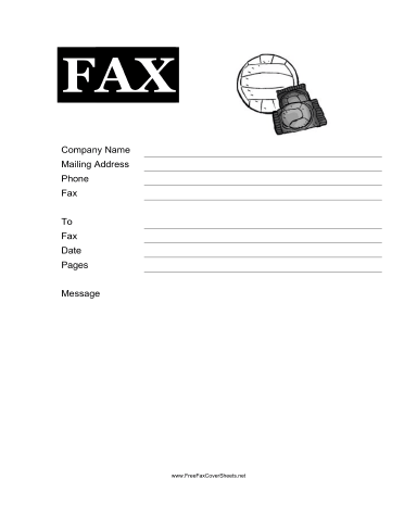 Volleyball Fax Cover Sheet