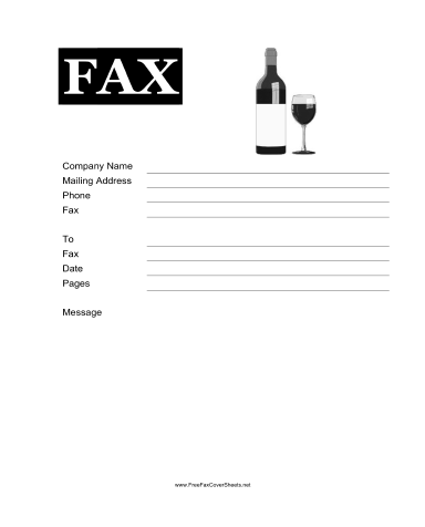 Wine Fax Cover Sheet