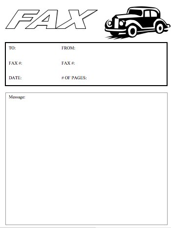 Antique Car Fax Cover Sheet At Freefaxcoversheets.Net