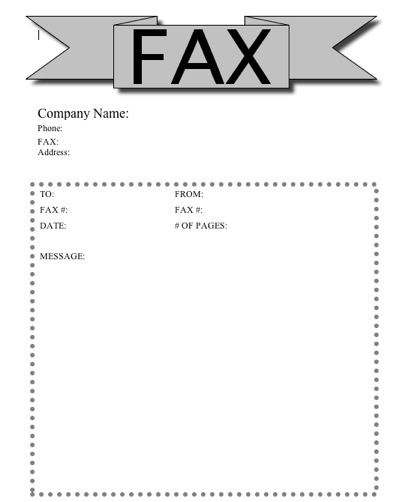 Banner Fax Cover Sheet At FreefaxcoversheetsNet