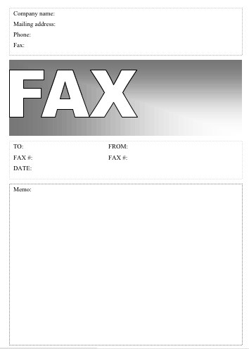 Basic #6 Fax Cover Sheet At Freefaxcoversheets.Net