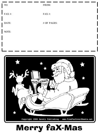Christmas Fax Cover Sheet at FreeFaxCoverSheets.net