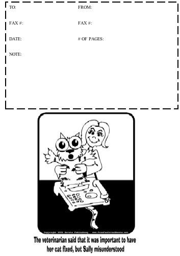 Cartoon #2 Fax Cover Sheet