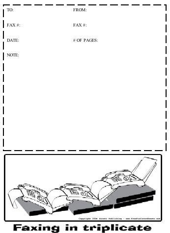 Cartoon #20 Fax Cover Sheet