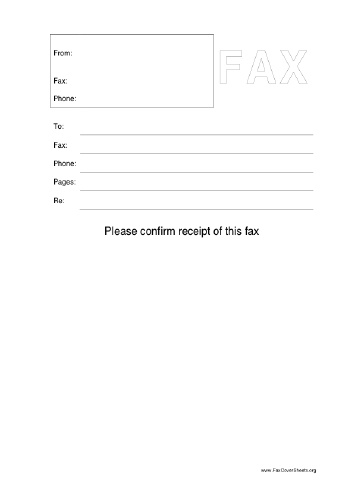 Confirm This Fax Fax Cover Sheet At Freefaxcoversheets.Net
