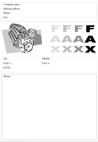 Dice Fax Cover Sheet