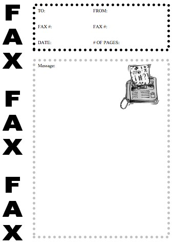 Fax Cover Sheets Template Fax Cover Sheet Template   Fax Cover