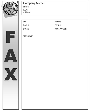 Word Fax Cover Sheet Editable Fax Cover Sheet In Microsoft Word