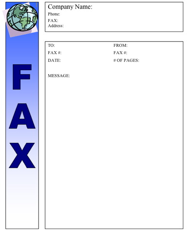 Global (Color) Fax Cover Sheet
