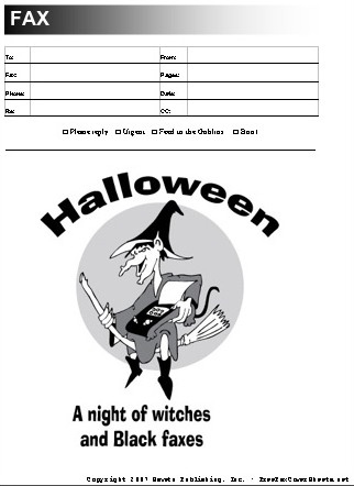 Halloween Fax Cover Sheet At FreefaxcoversheetsNet