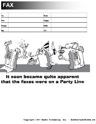 Party Fax Cover Sheet