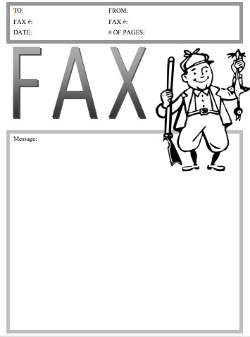 Hunter Fax Cover Sheet