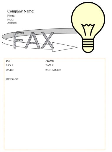 Light Bulb Fax Cover Sheet