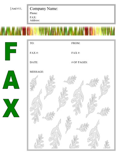 Nature Fax Cover Sheet