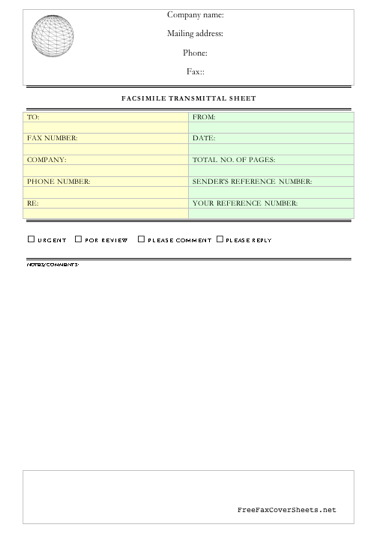 Professional Fax Cover Sheet Fax Cover Sheet At FreefaxcoversheetsNet