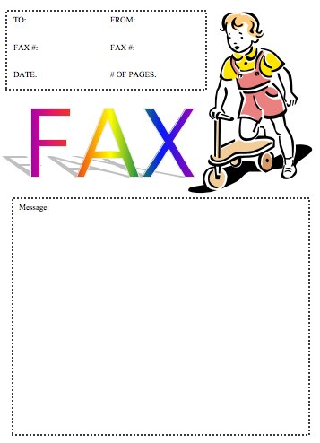 Scooter Fax Cover Sheet