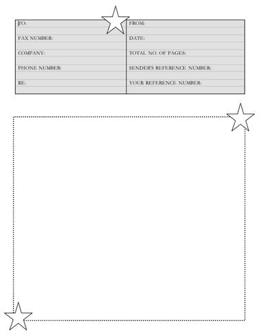 Stars Fax Cover Sheet