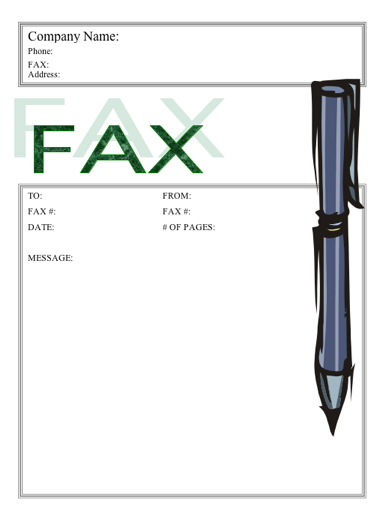 Stylish Stylus Fax Cover Sheet  Fax Cover Sheet Download
