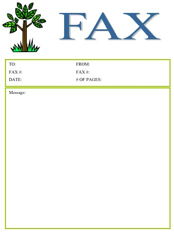 Tree Fax Cover Sheet At FreefaxcoversheetsNet