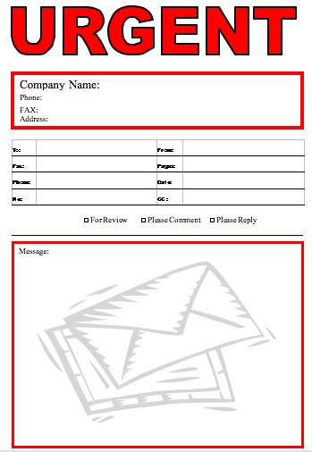Urgent  Fax Cover Sheet At FreefaxcoversheetsNet