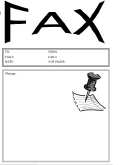cover sheet for fax